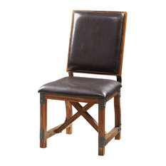 INK+IVY Lancaster Wooden Leather Dining Side Chair