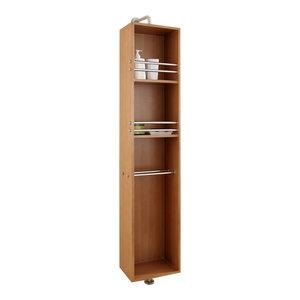 """Marcel 14"""" Modern Side Cabinet, Chestnut"""