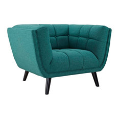 Modway - Bestow Upholstered Fabric Armchair - Armchairs and Accent Chairs