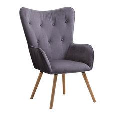 Willow Chair, Grey Velvet
