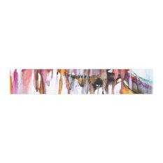 """Malia Shields """"Cascade"""" White Multicolor Table Runner, 16""""x90"""""""