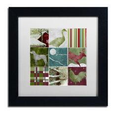 """Color Bakery 'Country Christmas Nine' Art, Black Frame, White Matte, 11""""x11"""""""