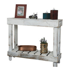 Coffee and Accent Tables   Houzz  del Hutson Designs   Barn Wood Entry Table  White   Console Tables. Accent Living Room Tables. Home Design Ideas