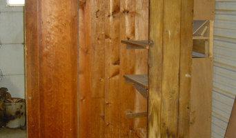 Antique Wood Pine Cabinet