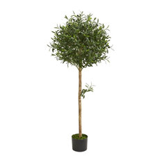 Olive Topiary Artificial Tree in Green