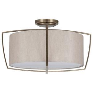 Moana 3-Light Ceiling Light, Antique Brass