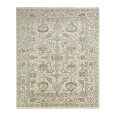 UMBRIA Hand Made Wool Area Rug, Off-White, 9'x12'