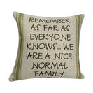 Nice Normal Family Throw Pillow with Insert 12x12