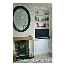 Weybridge Home, Traditional Victorian White Alcove Cabinets - Mr Knight