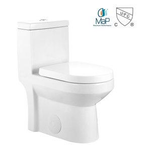 GALBA 1  Small Compact Toilet Tiny Short Elongated Dual 24.5