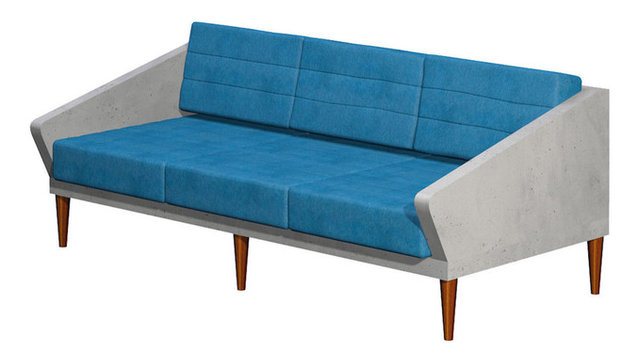 Concrete Sofa Timeless For Indoor And Outdoor Use