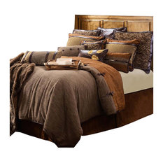 HiEnd Accents - 5-Piece Highland Lodge Collection, Super Queen - Comforters and Comforter Sets