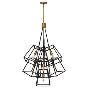 Cages 7-Light Chandelier, Bronze
