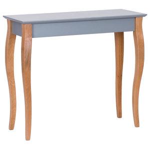 Lilo Medium Scandinavian Console Table, Dark Grey