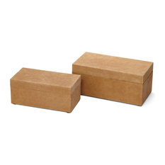 Sienna Suede Boxes, Set of 2