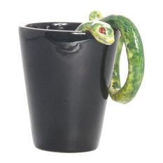 Snake 3D Ceramic Mug, Green