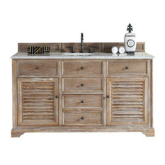 "60"" Vanity Cabinet, Driftwood, No Counter Top/Sink"