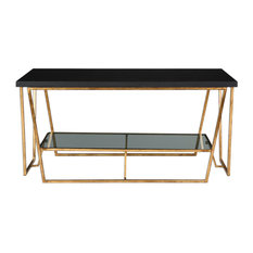 Uttermost 24784 Agnes 40-inchW Metal Frame Coffee Table - Black