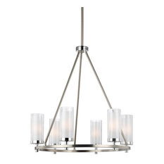 50 most popular energy star chandeliers for 2018 houzz feiss monte carlo jonah 6 light chandeliers satin nickel and chrome aloadofball Image collections