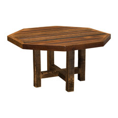 fireside lodge furniture barnwood octagon dining table 48 with antique oak top. beautiful ideas. Home Design Ideas