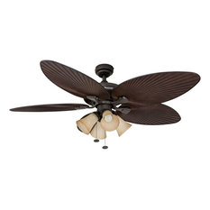 """52"""" Palm Island Bronze Ceiling Fan with 4 Light"""
