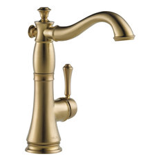 Delta Cassidy Single Handle Bar/Prep Faucet, Champagne Bronze, 1997LF-CZ