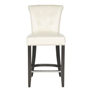Addo Ring Counterstool, Flat Cream Leather