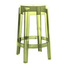 Charles Ghost Stool By Kartell Set Of 2 Green Medium