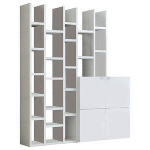 Torero Modular Bookcase, White Gloss