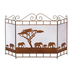 Koehler Home Decor Wild Savannah Fireplace Screen