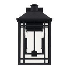 Capital-Lighting Braden 2-Light Outdoor Wall Lantern 927121BK, Black