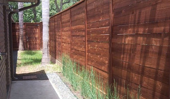 Horizontal Fence Stain with Oxford Brown
