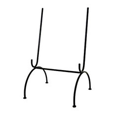 """Large Wrought Iron Platter Stand/Easel, 19""""x11.75"""""""