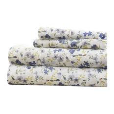 Becky Cameron Blossoms Pattern 4 Piece Bed Sheet Set, Queen