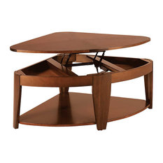 Hammary Furniture Oasis Wedge Lift Top Tail Table By Rich Medium Brown