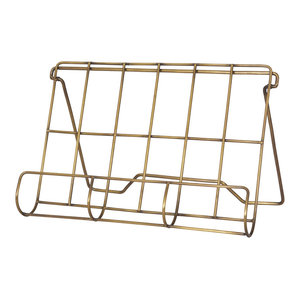 Brompton Cook Book Holder in Antique Brass Finish