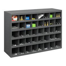 ... - Durham Gray Cold Rolled Steel, 40 Opening Bin - Storage Cabinets