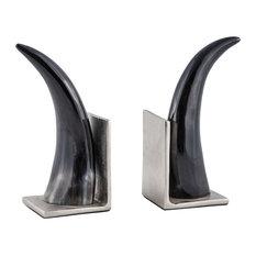 Abilene Natural Horn Bookends, Set Of 2