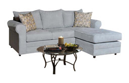 Chelsea Home 2-Piece Sofa Chaise Living Room Set in Blitz Capri