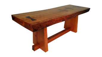 Live edge coffee table: inspired by George Nakashima