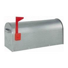 Silver US Mailbox Post Box