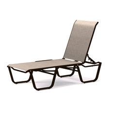 Aruba II 4-Position Armless Chaise, Textured Kona, Natural
