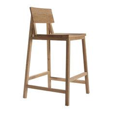 - Tabouret de bar N3 en chêne d'Ethnicraft - Chaise et Tabouret de Bar