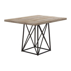 "Monarch I 1109 Dining Table - 36""X 48"" / Taupe Reclaimed Wood-Look/Black"