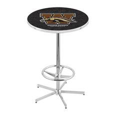 L216 - 42-inch Chrome Western Michigan Pub Table by Holland Bar Stool Co. by Holland Bar Stool Company