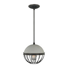 50 most popular nickel pendant lights with a concrete shade for 2018