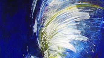 "ORIGINAL Abstrakte Kunst / moderne Malerei auf Leinwand ""ANGELS CARE"""