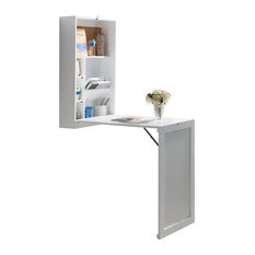 white wall mounted desk. pilaster designs - wall-mounted fold-out convertible writing desk, white desks wall mounted desk t