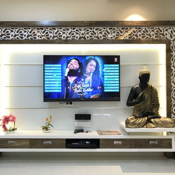 TV Unit Design For 10 Ft Wall