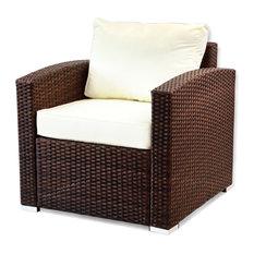 Lounge Outdoor Armchair, Dark Brown